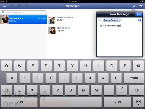 IM+ - лучший из крайне малочисленных icq-клиентов, предназначенных именно для iPad.