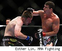 MIchael Bisping fights Mayhem Miller at the TUF 14 Finale.