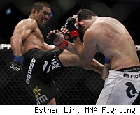 Mark Munoz defeated Chris Leben at UFC 138 in Birmingham, England.