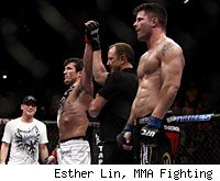 Chael Sonnen defeated Brian Stann via a submission at UFC 136.
