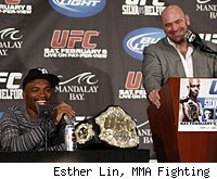 Anderson Silva and Dana White will likely appear at the UFC 134 post-fight press conference.