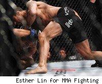 Vitor Belfort knocks out Yoshihiro Akiyama at UFC 133.