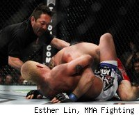 Tito Ortiz submits Ryan Bader at UFC 132.