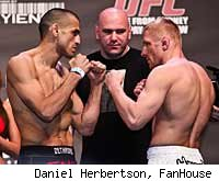 George Sotiropoulos vs. Dennis Siver is a fight on the main card of UFC 127.