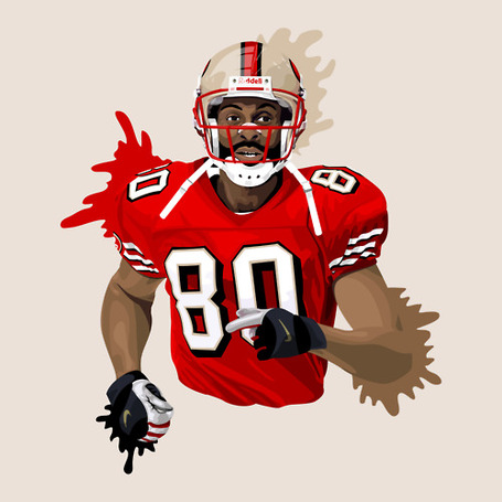 Jerry Rice Illustration