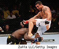 Vitor Belfort defeated Anthony Johnson in the co-main event at UFC 142.