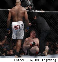 Alistair Overeem stops Brock Lesnar at UFC 141.