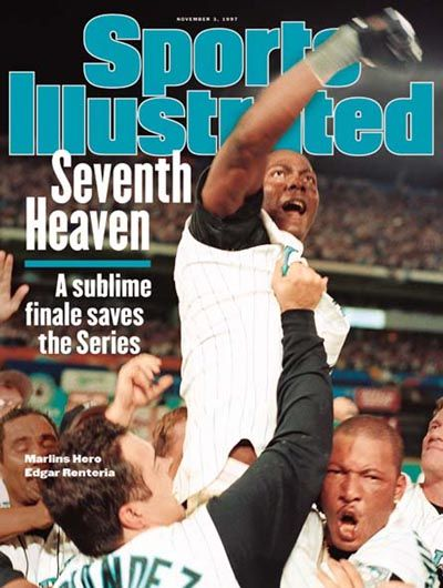 Florida Marlins World Series Champions Edgar Renteria Sports Illustrated