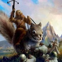 Wookie-and-giant-squirrel-vs-the-nazis1