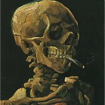 Skull-with-burning-cigarette