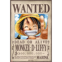 One-piece-luffy-wanted-poster
