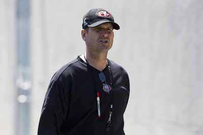 Jim Harbaugh spoke with former De La Salle coach Bob Ladouceur