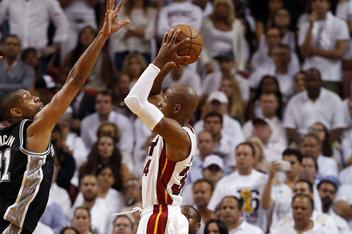 Ray Allen 3-pointer San Antonio Spurs vs Miami Heat nba finals