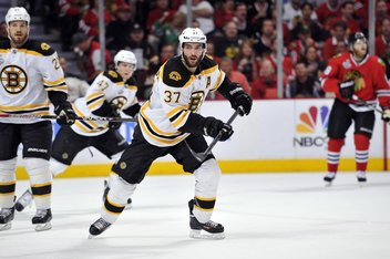 Patrice Bergeron injury: Bruins center will travel with the team