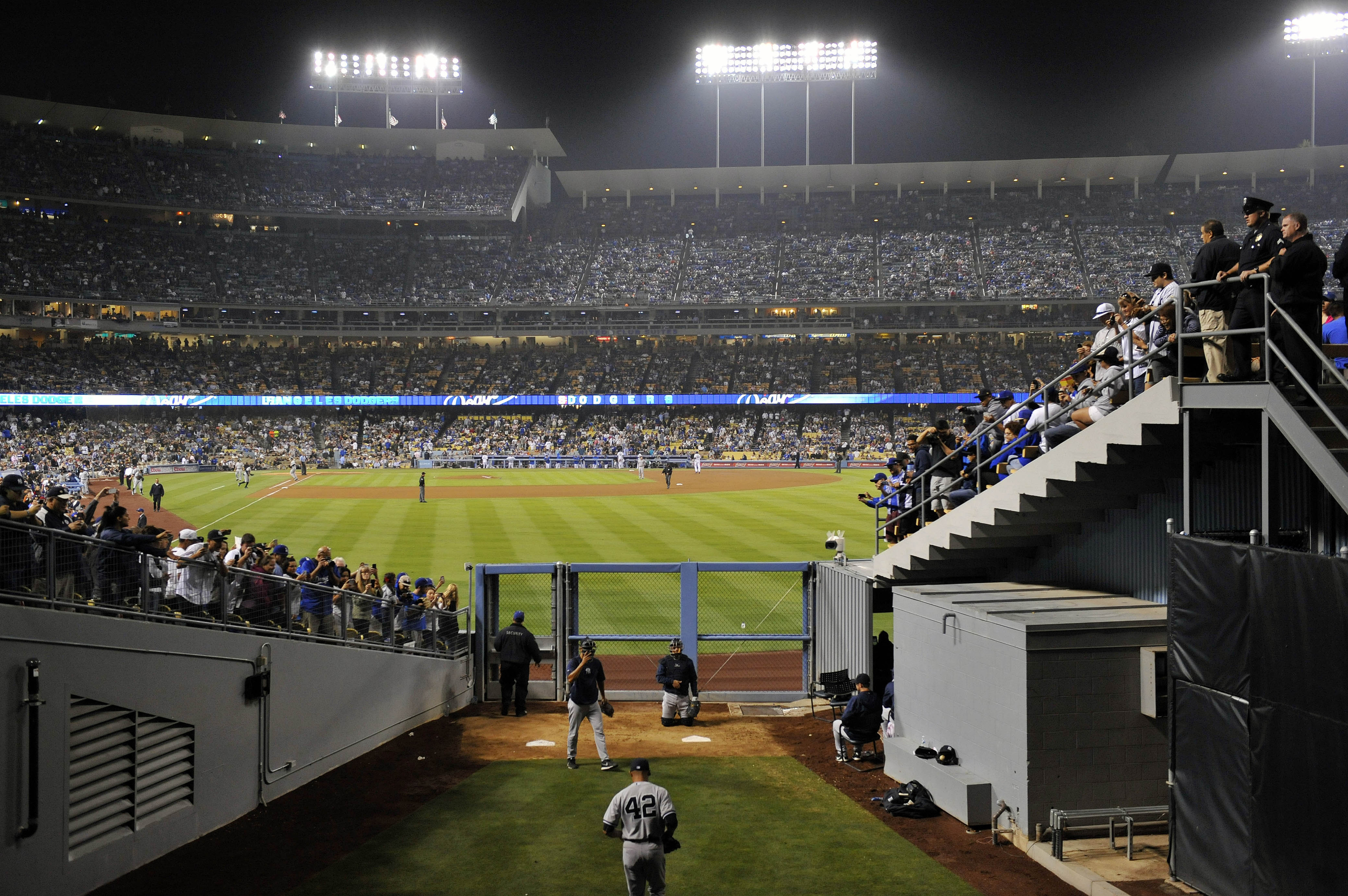 Mariano Rivera Gets The Call In Dodgers Stadium