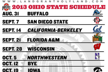 Free Printable 2013 Football Schedule