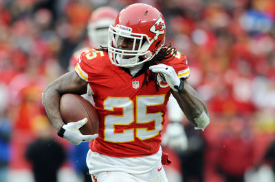 Kansas City Chiefs' Jamaal Charles is still gaining a lot of yards