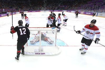Sharks in Sochi: Canada routs Austria thanks to some California Love