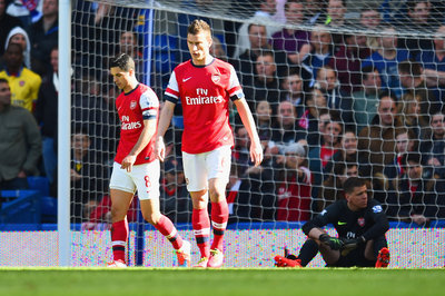 Laurent Koscielny out versus Swansea; long-term status unclear