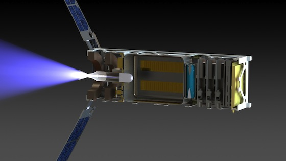 Bottle rockets: water could propel tiny satellites of the