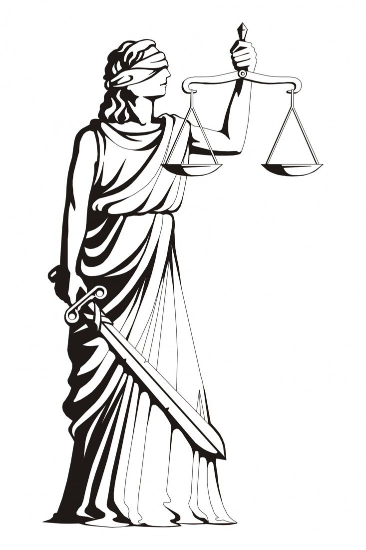 lady justice statue drawing - photo #2