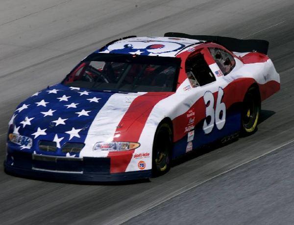 American Flag Race Cars